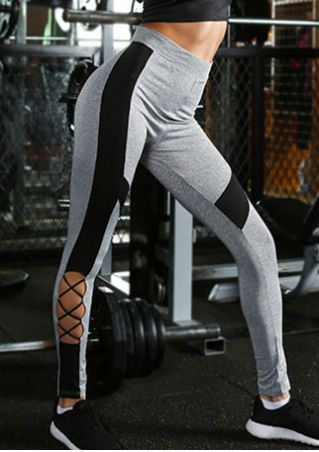 Color Block Criss-Cross Sport Pants