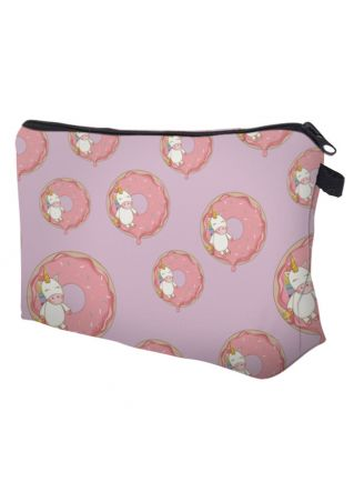 Unicorn Donut Zipper Makeup Bag