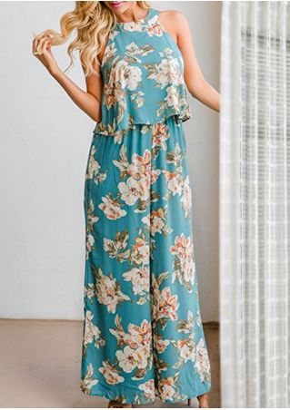 Floral Tank and Wide Leg Pants Set