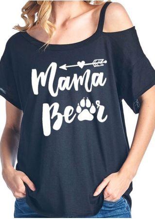 Mama Bear Cold Shoulder Blouse