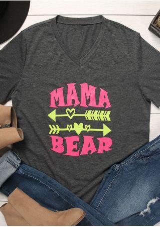 Mama Bear Arrow V-Neck T-Shirt