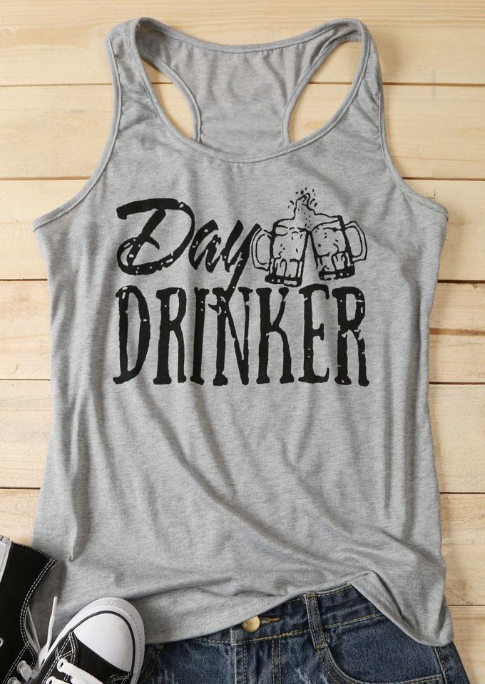 Day Drinker O Neck Tank Bellelily