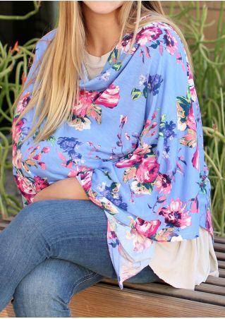 Floral Carseat Cover & Nursing Lactation Poncho