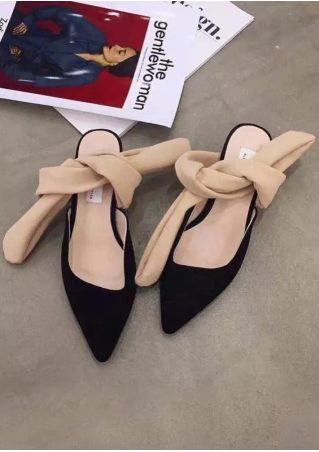 Pointed Toe Tie Heeled Sandals