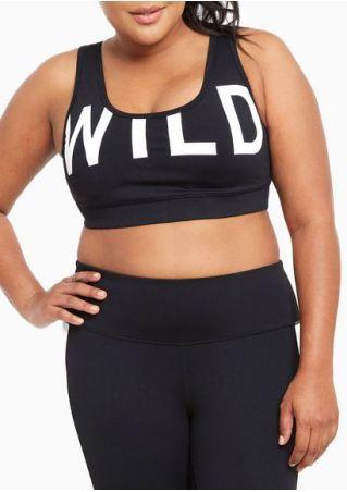 Plus Size Wild Printed Sport Bra