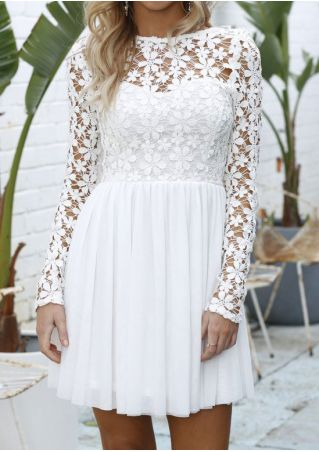 Solid Lace Dress