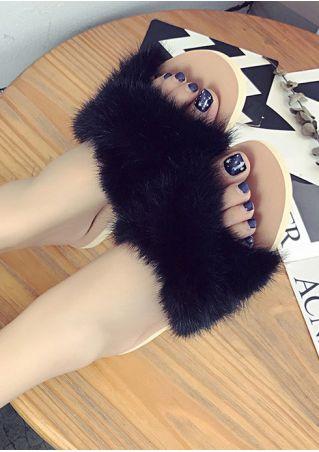 Faux Fur Fluffy Flat Slippers