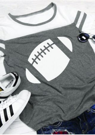 Rugby Color Block O-Neck T-Shirt