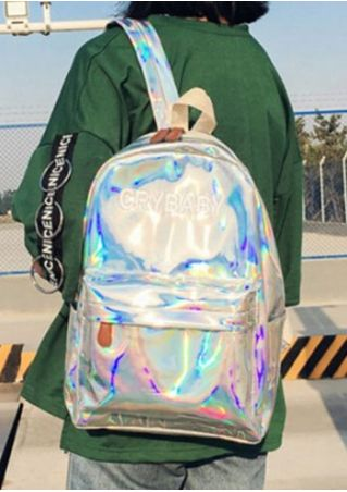 Cry Baby Printed Zipper Laser Backpack