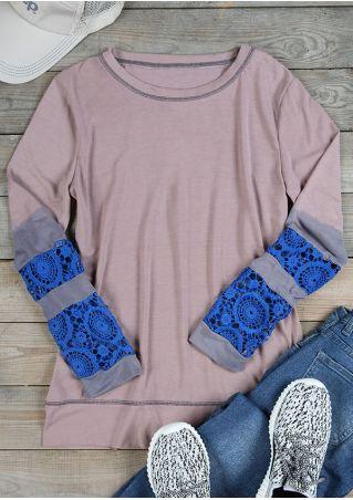 Lace Splicing Long Sleeve T-Shirt