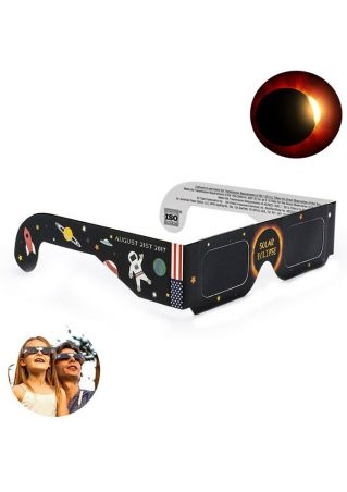 Space Printed Solar Eclipse Glasses