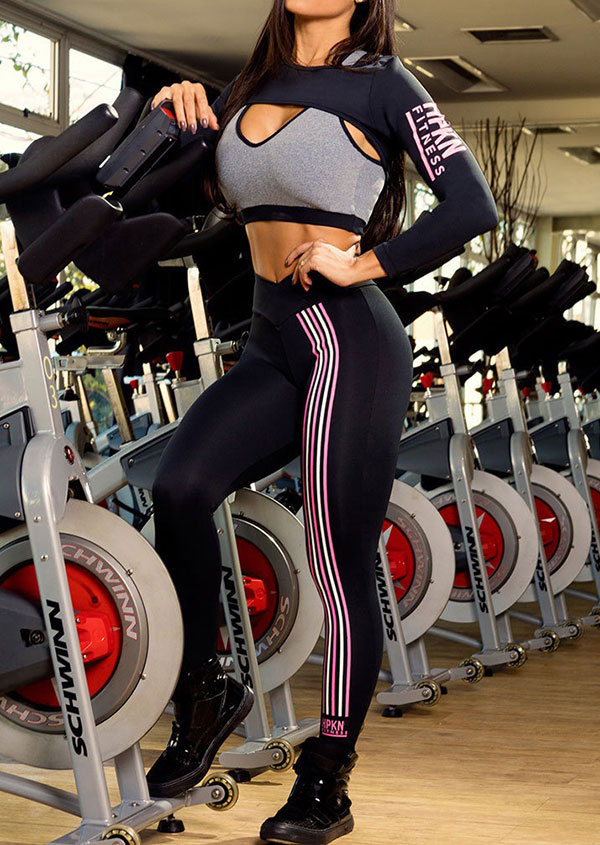 Fitness Crop Top and Pants Set