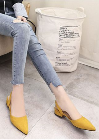 Solid Pointed Toe Sandals