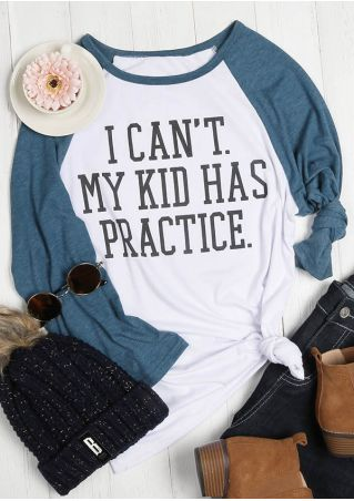I Can't My Kid Has Practice Baseball T-Shirt
