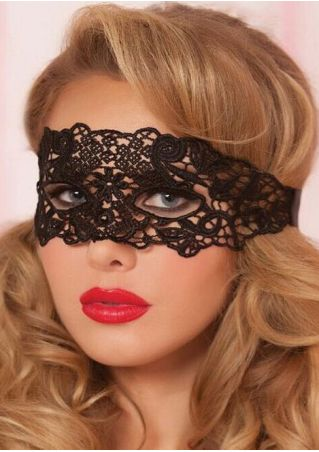Halloween Solid Lace Floral Hollow Out Mask