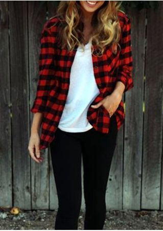 Plaid Printed Long Sleeve Shirt
