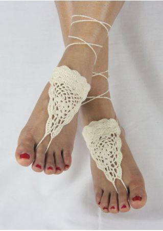 Crochet Lace Up Barefoot Sandals