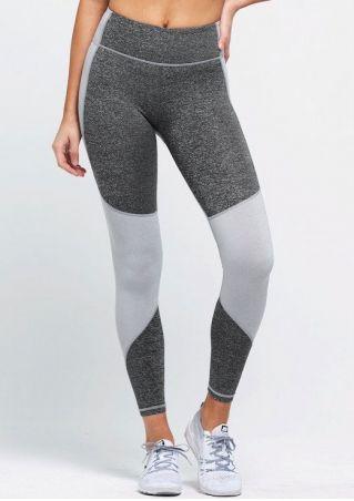 Splicing Elastic Waist Sport Pants