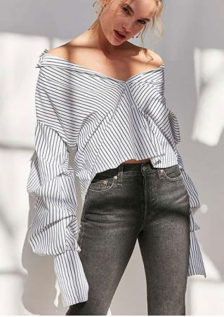 Striped Button Long Sleeve Shirt