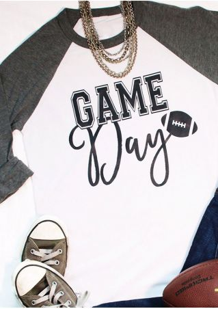 Game Day O-Neck Baseball T-Shirt
