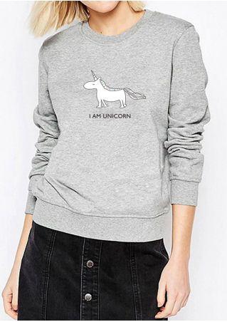 I Am Unicorn O-Neck Sweatshirt