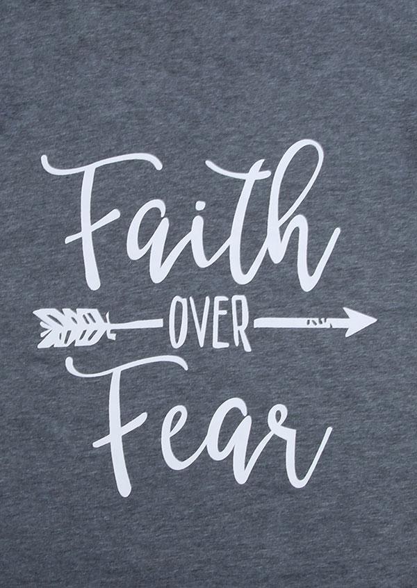Faith Over Fear Arrow Batwing Sleeve T Shirt Bellelily