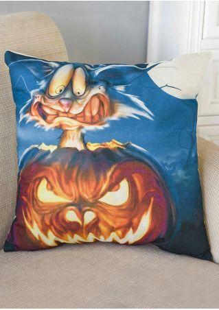 Halloween Pumpkin Face Printed Pillow Case