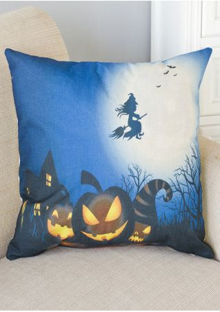 Halloween Pumpkin Face Pillow Case