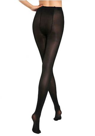 Solid Skinny Stretchy Pantyhose