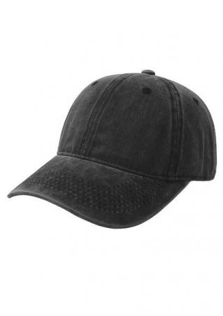 Solid Adjustable Baseball Hat