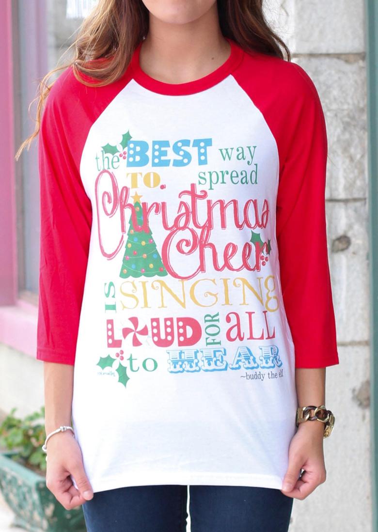Christmas Letter Printed T-Shirt