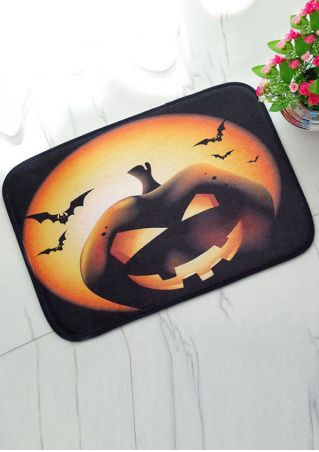 Halloween Pumpkin Face Antislip Floor Rug