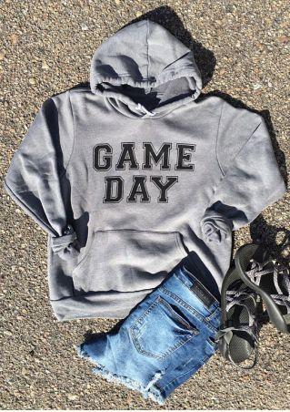 Game Day Drawstring Pocket Hoodie