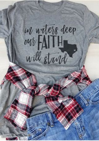 Plus Size In Waters Deep Our Faith Will Stand T-Shirt