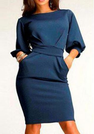 Half Sleeve Bodycon Dress