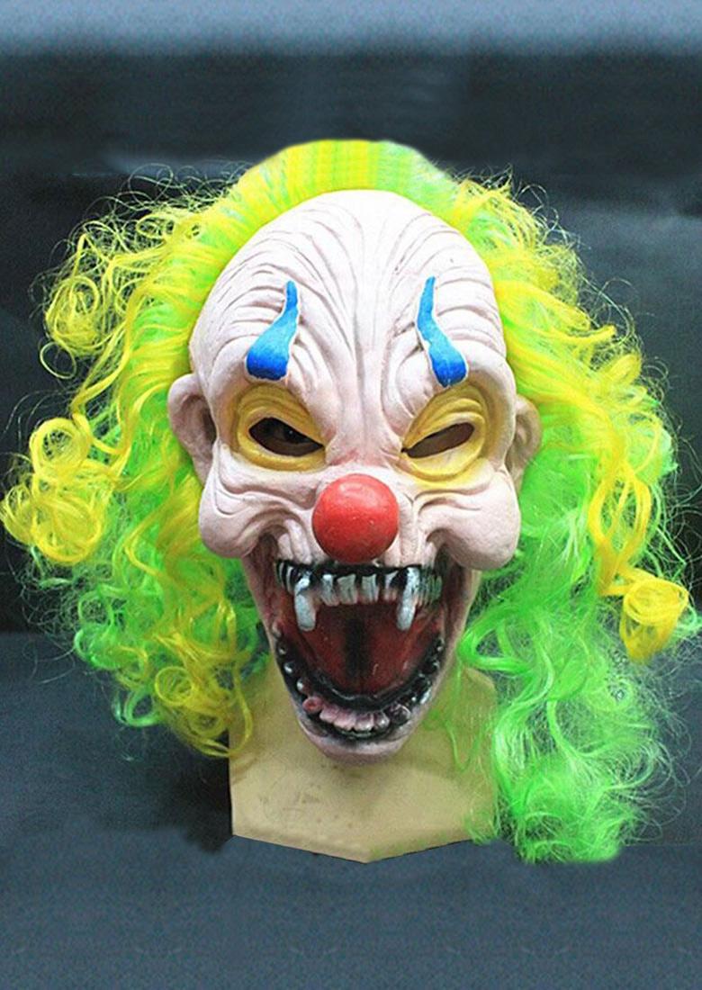 Halloween Scary Circus Clown Head Mask