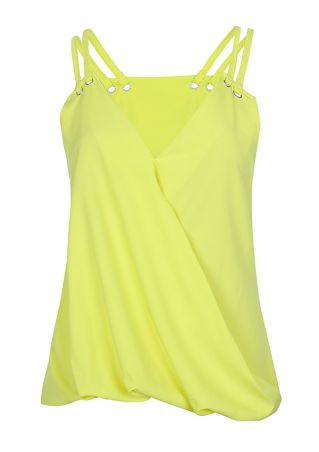 Solid Wrap V-Neck Camisole