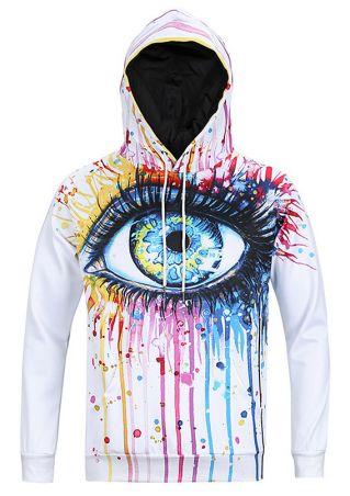 Multicolor Eye Printed Hoodie