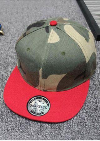 Snapback Camouflage Printed Adjustable Hat
