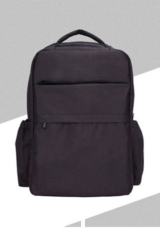 Solid Zipper Multi-Pocket Backpack