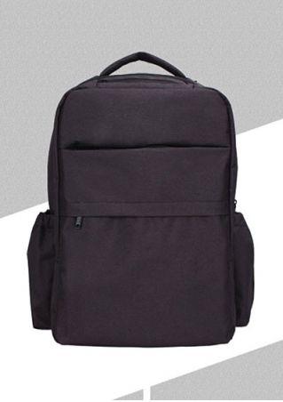 Solid Zipper Multi-Pocket Backpack