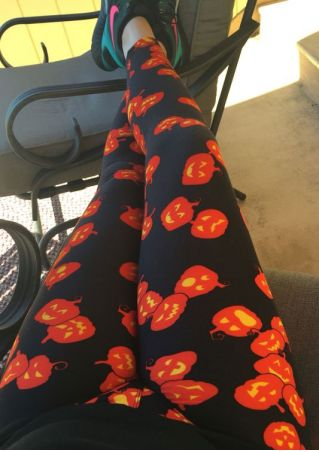 Pumpkin Elastic Waist Skinny Leggings
