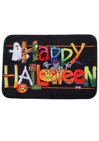 Happy Halloween Pumpkin Face Antislip Floor Rug