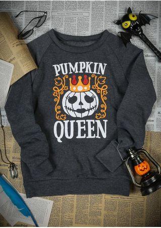 Halloween Pumpkin Queen O-Neck Sweatshirt