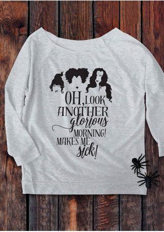 Halloween Sanderson Sister Letter Printed Sweatshirt