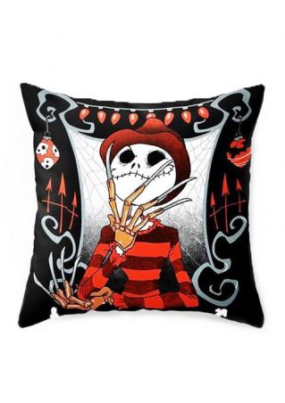 Halloween Skull Printed Pillow Case