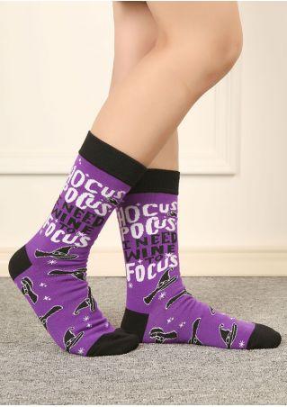 Halloween Hocus Pocus Long Socks
