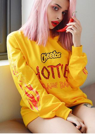 Cheetos Hottie Drawstring Pocket Hoodie