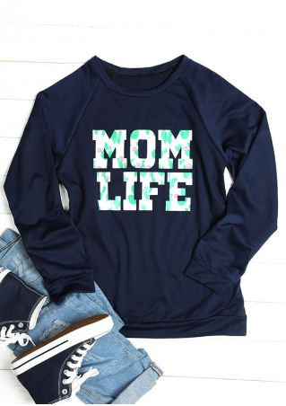 Mom Life Long Sleeve Sweatshirt