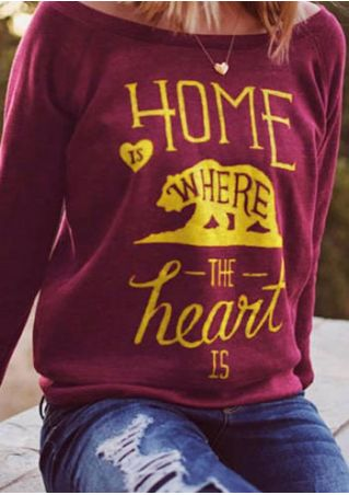 Home Is Where The Heart Is Sweatshirt without Necklace